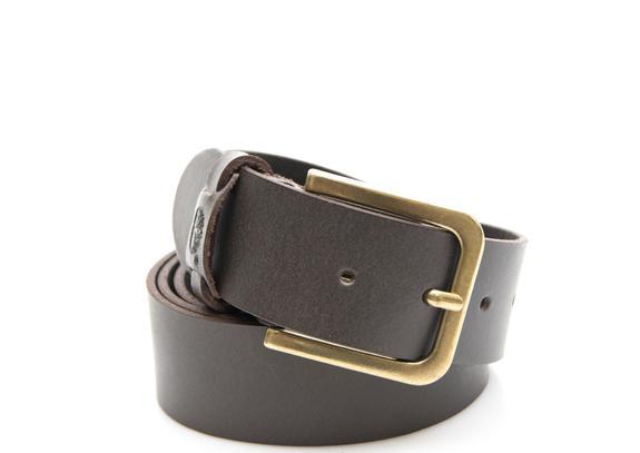cintura uomo Timberland man leather belt cocoa M4890968XL