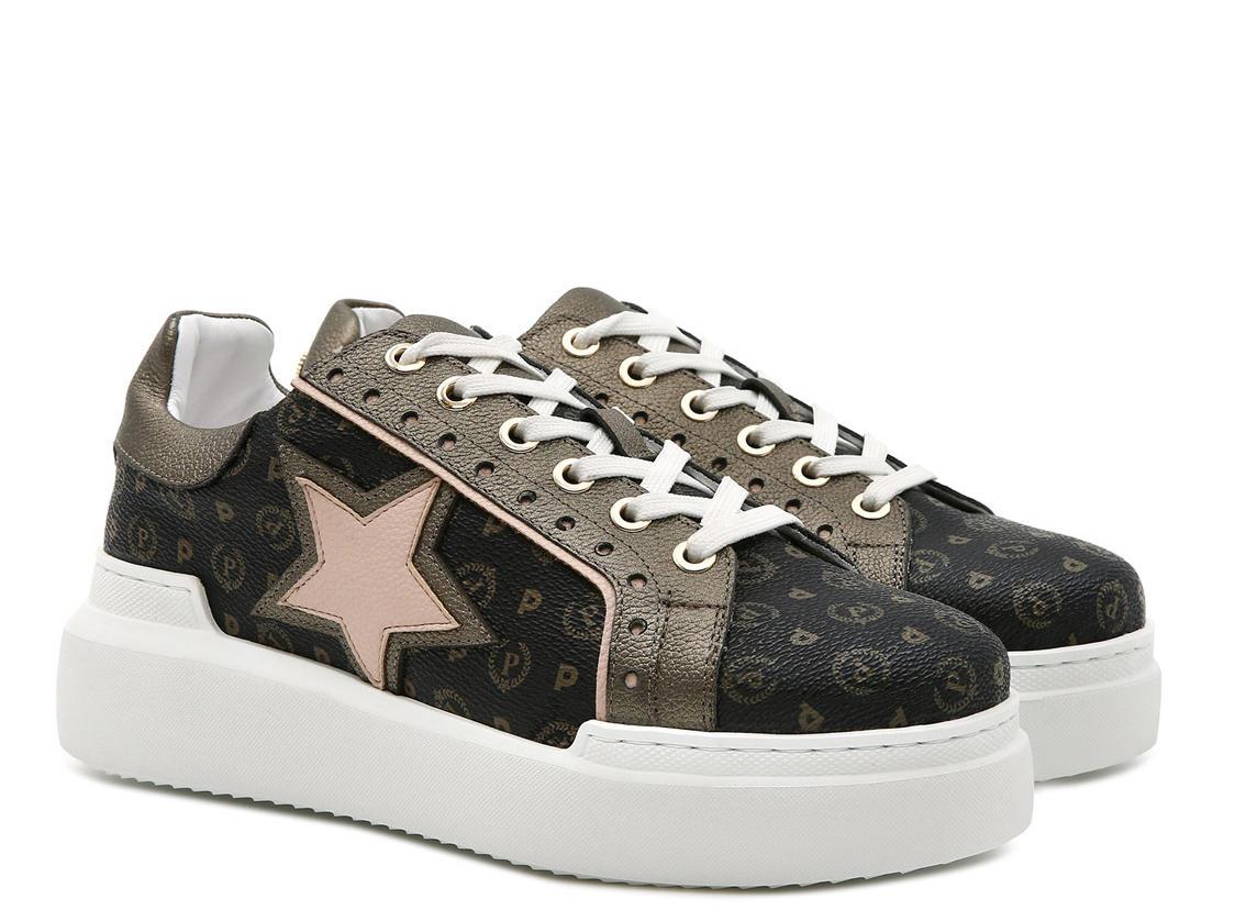 3a09333b19 Sneakers Pollini Capsule Heritage Western Nero Bronzo Nude ...