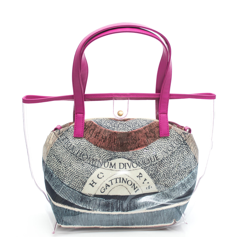 fcbc4dce9c Gattinoni Crystal Medium Shopping Bag A Spalla, Con Pochette Cipria ...