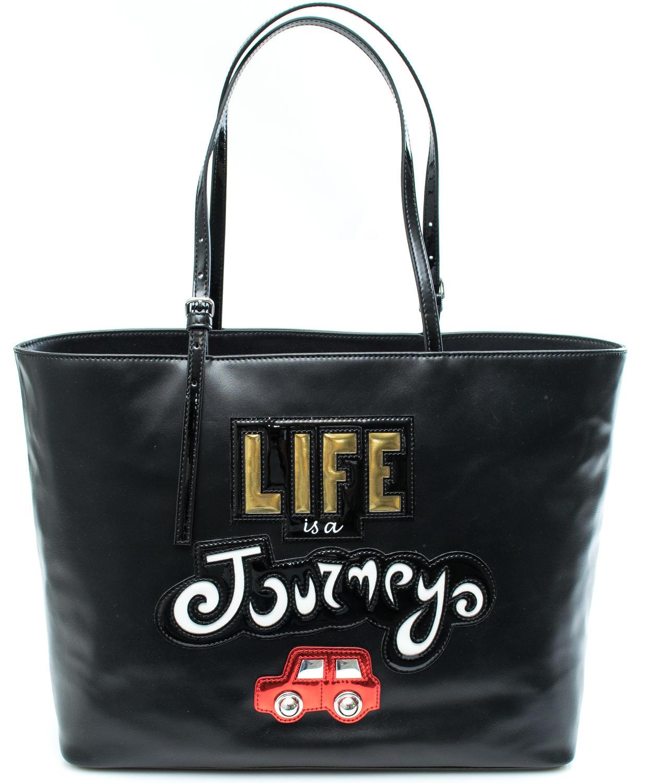 3d85fcbbe8 Braccialini Tua Life Is A Journey Shopping Bag A Spalla Nero ...