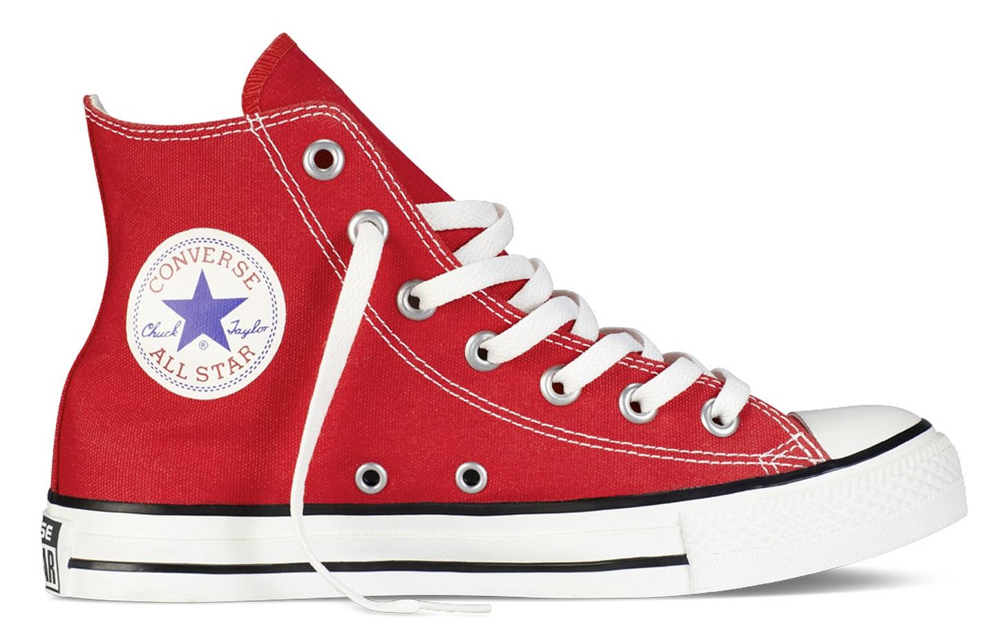 ed1bb49604 Converse All Star High Top Chuck Taylor, In Canvas Rosso - Acquista ...