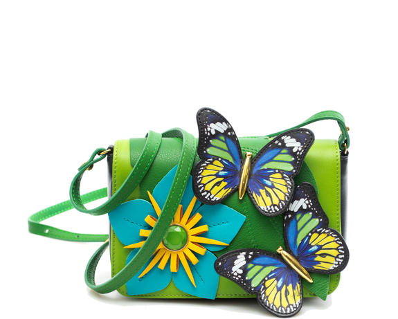 Detalles de BORSA DONNA Braccialini temi tropical garden shoulder bag unico B10660PP 818
