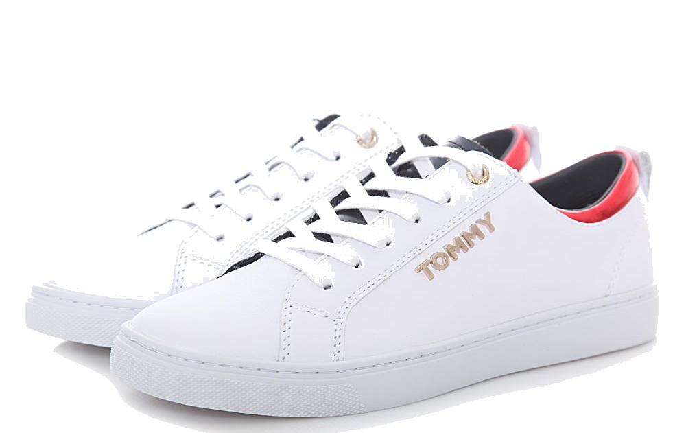 ef1c29420fac Tommy Hilfiger Venus Sneakers In Pelle White - Acquista A Prezzi Outlet!