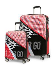 Set Trolley - AMERICAN TOURISTER WAVEBREAKER Set Trolley grande + bagaglio a mano