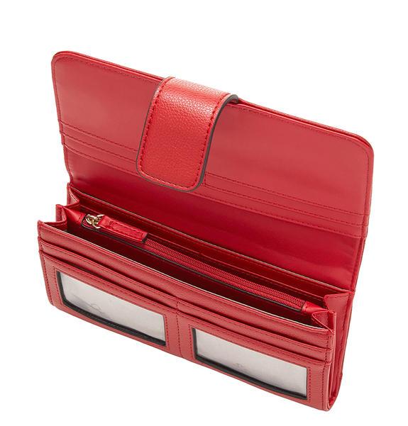 Dettagli su PORTAFOGLIO DONNA Guess grethe file clutch RED SWGRETP7459RED