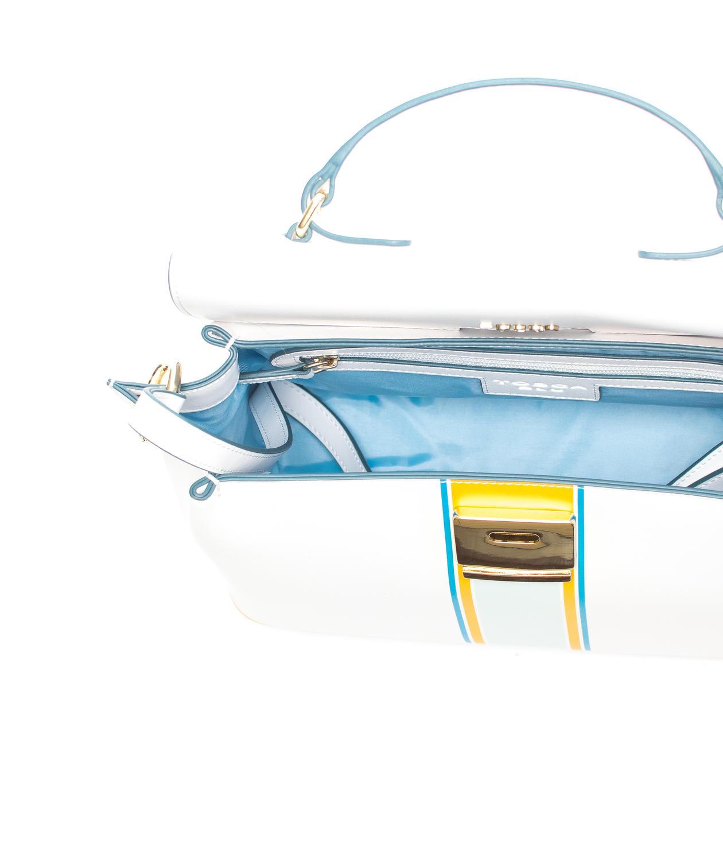 c17096cf9e Tosca Blu Cinderella Borsa A Mano, Con Tracolla, In Pelle Bianco ...