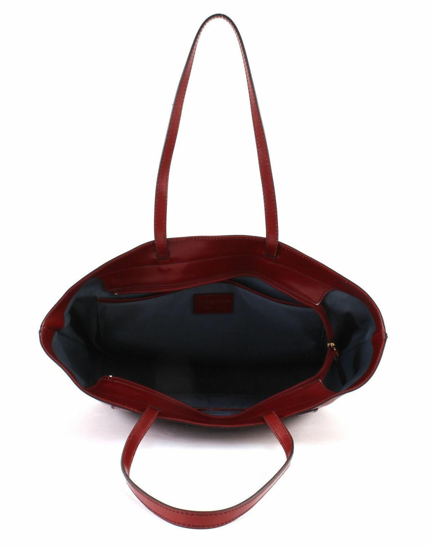 rosso ribes The Bridge Santacroce Shopper Tasche Schultertasche Leder 32 cm