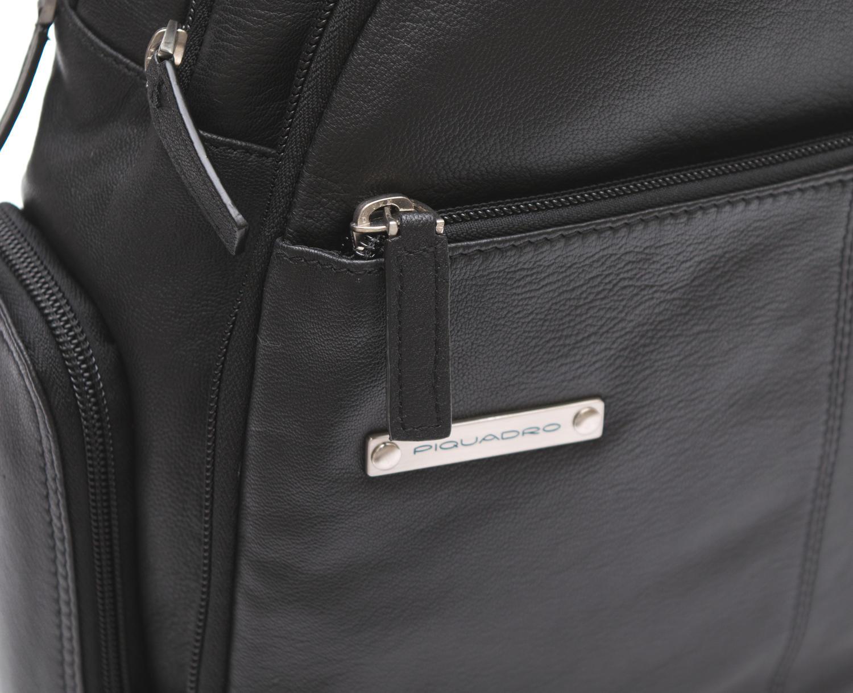 Zainetto piquadro in pelle porta notebook fino a 10 nero - Zainetto porta pc piquadro ...