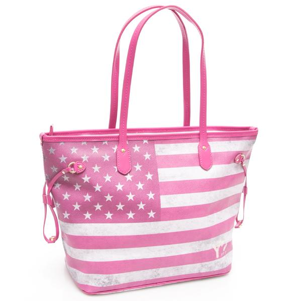 - YNOT? Flag Color USA Shopping bag a spalla